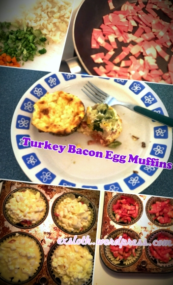 Turkey Bacon Egg Muffins